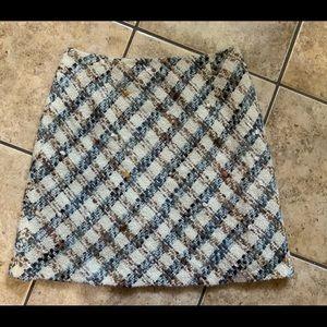 Talbots multi color tweed skirt